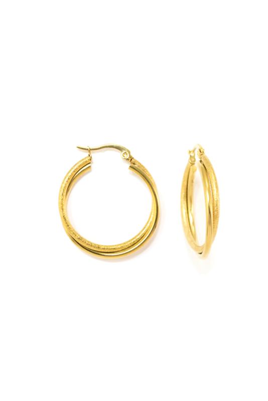 Golden double hoops