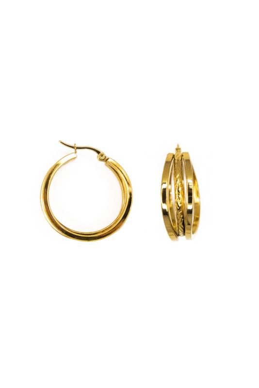 Golden three ring hoops
