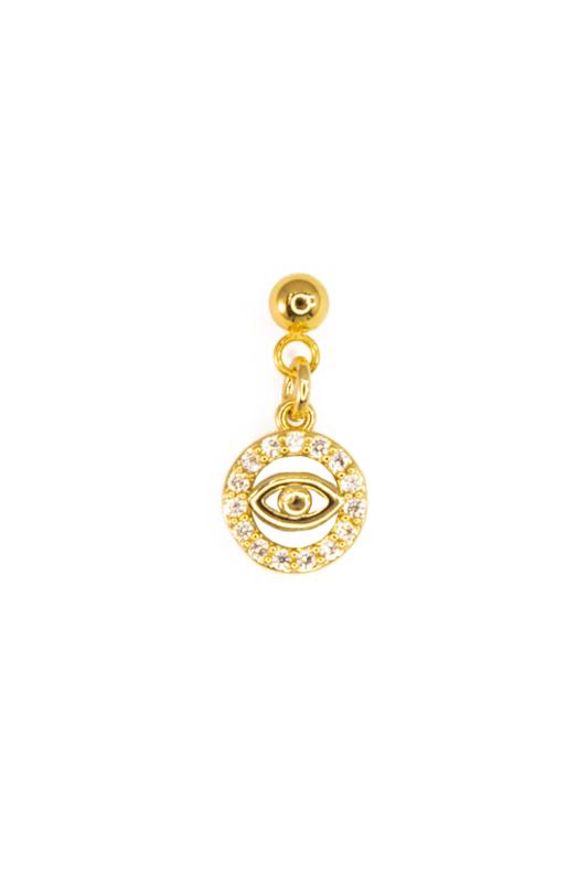 Golden round bling eye