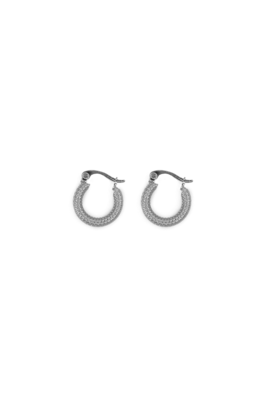 Silver little modern hoops (15mm)