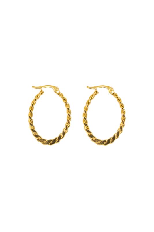 Golden braid hoops