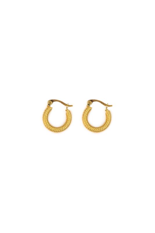 Golden modern hoops (15mm)