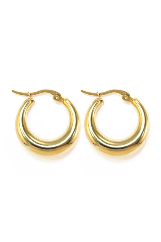 Golden big hoops