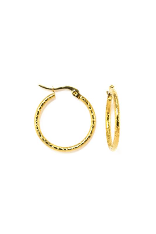 Golden snake hoops