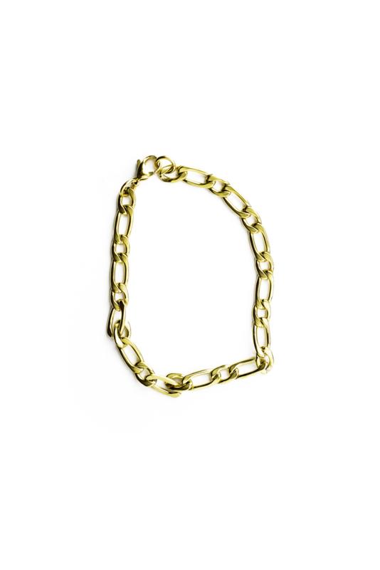 Golden horizontal bracelet