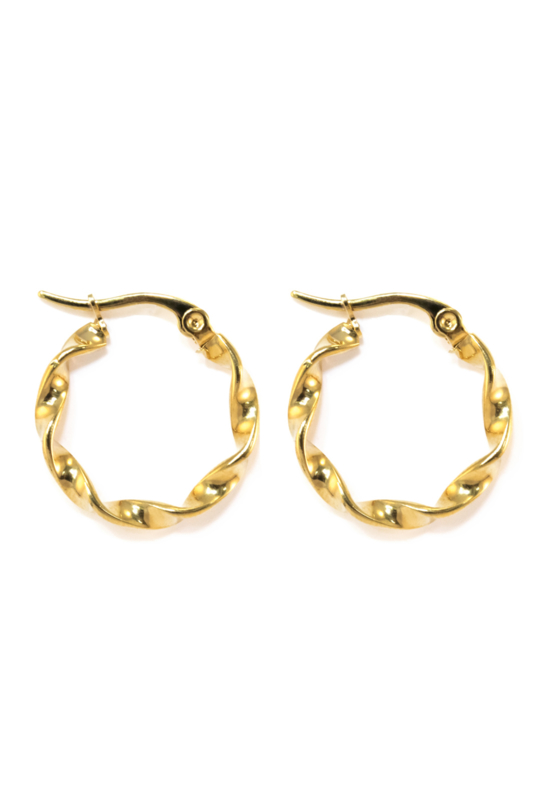 Golden chunky hoops