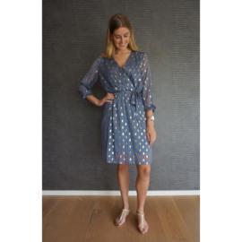 STACY jurk blauw