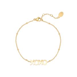 DOTTED XOXO armband goud