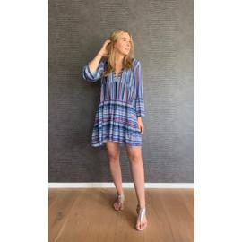 KELLY jurk blauw