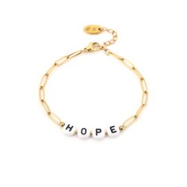 HOPE armband goud