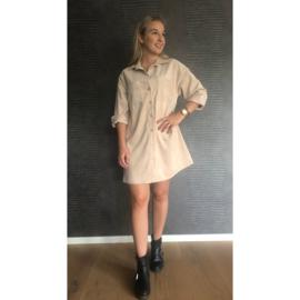 GWEN jurk beige