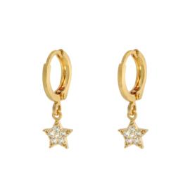 SPARKLE STAR oorbellen goud