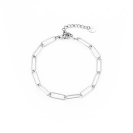 LINKED armband zilver