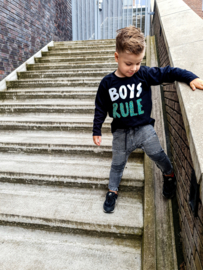 Shirtje - boys rule - luipaardprint groen