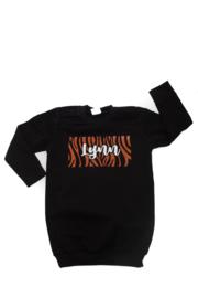Sweaterdress - naam - met zebraprint