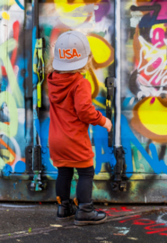 Snapback - naam. - graffiti - 2 kleurtjes