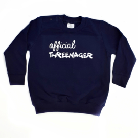 Sweater 'official threenager'