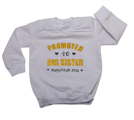Sweater 'promoted to big sister' + datum