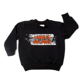 Sweater - Wheelie awesome met bandenspoor