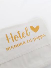 Ledikantlaken 'Hotel mamma en pappa'