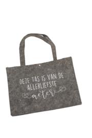 Vilten tas -  deze tas is van de allerliefste meter