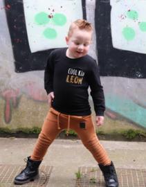 Sweater - 'cool kid' met naam in tijgerprint