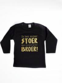 Shirtje 'ik ben super stoer want ik word grote broer!'