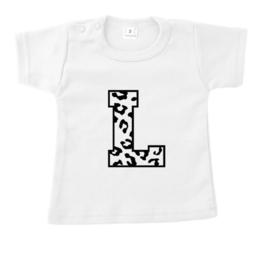 Shirtje - voorletter - panterlettertype