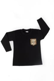 Shirtje - borstvakje luipaard - stay wild