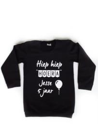 Sweater naam - hiep hiep hoera 5 jaar