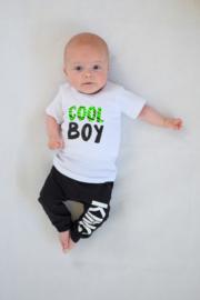 Shirtje - cool boy - met zebra neon groen print