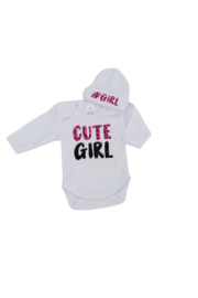 Rompertje - cute girl - luipaardprint roze