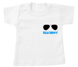 Shirtje - beachboy - neon blauw