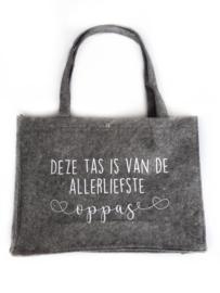 Vilten tas -  Deze tas is van de allerliefste oppas
