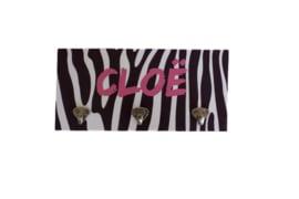 Houten kapstokje - zebra