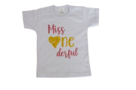 Shirtje 'miss ONEderful'