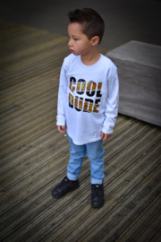 Shirtje - cool dude - met tijgerprint