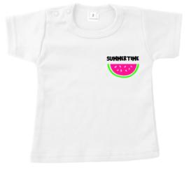 Shirtje - summervibes - watermeloen - neon