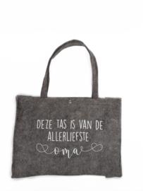 Vilten tas -  deze tas is van de allerliefste oma