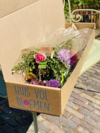 Huis Vol Bloemen - Boeket groot