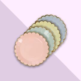 Meri Meri - Bordjes pastel rond - mini