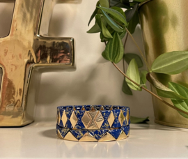 Marmer armband blauw & goud set