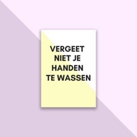 Set posters 'Handen wassen' geel