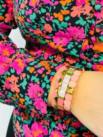 Pastel roze armband set