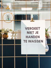 Set posters 'Handen wassen' blauw