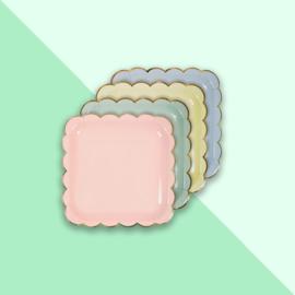 Meri Meri - Borden pastel vierkant