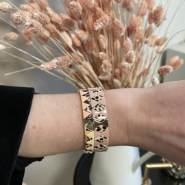 Cheetah armband set roze