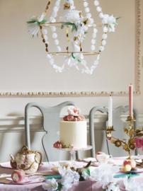Meri Meri - Kandelaar witte bloemen