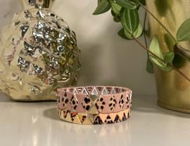 Cheetah armband set roze