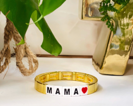 Mama love armband goud
